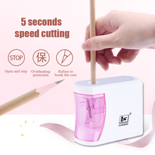 Automatic Pencil Sharpener Single Hole Electric Pencil Sharpener For Kid Gifts School Stationery Supplies Battery Charge Powered