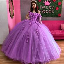 Angelsbridep Sweetheart Baljurk Jurken Voor 15 Party Mode Off-Schouder Applique Cinderella Verjaardag Gown Hot
