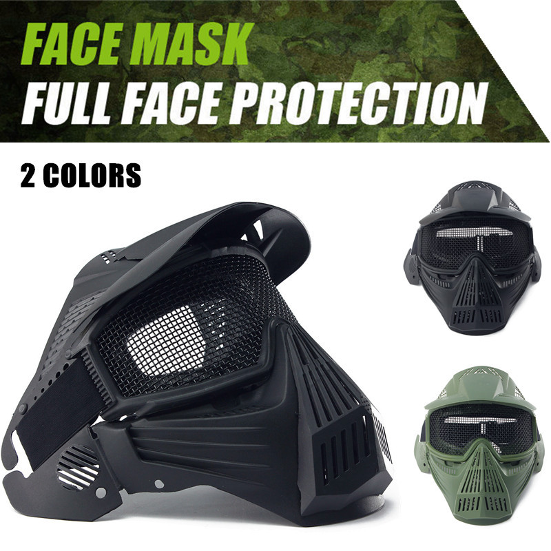 Tactical Paintball Masks With Safety Goggles Outdoor Breathable Hunting Shooting Mask Military Full Face Safety Airsoft Protect