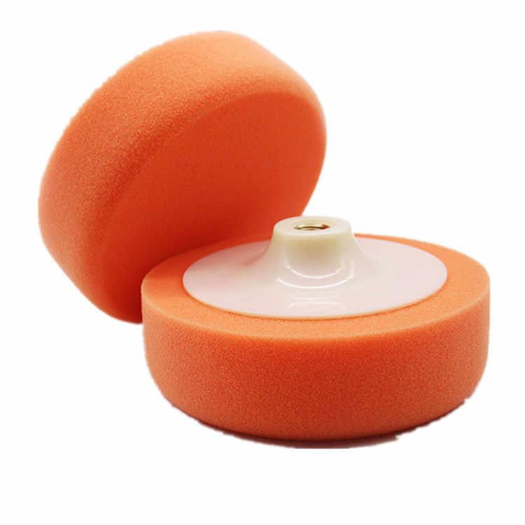 """1Pc 6 """"(15 cm) gąbki samochodowe talerze polerskie polerowanie polerowanie woskowanie Pad koła do bufora do polerowania samochodu pomarańczowy zestaw nakładek gorąca myjnia samochodowa"""