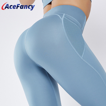 Acefancy Pocket Yoga Pants Gym Leggings Sports Women High Waist Fitness T1901 Sport Clothing - discount item  50% OFF Sportswear & Accessories