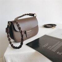 2021 Nieuwe Lederen Zachte Crossbody Tassen Voor Vrouwen Luxe Designer Vintage Schoudertas Twisted Gevlochten Dames Messenger Bag