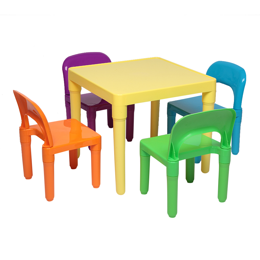 Sedie E Tavoli Di Plastica.Tavolo E Sedia Di Plastica Di Colore Set Per I Bambini Un Da