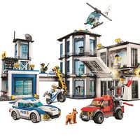 10660 936 pces cidade polícia estação bela bloco de construção compatível legoinglys 60141 tijolos brinquedo