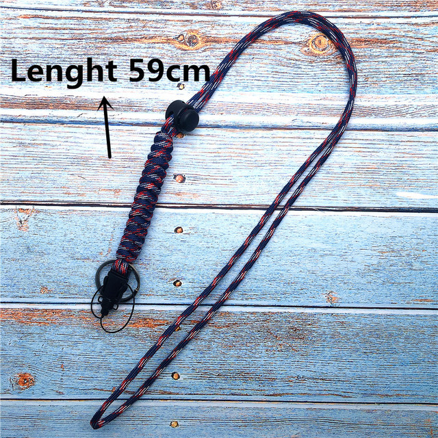 Lanyard for phone Military Grade Utility Necklace Lanyard Keychain Whistles Cord Wrist Strap with Metal Hook for Outdoor 1