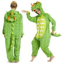 Flanelowe Kigurumi dorosłych piżamy kobiety mężczyźni piżama kreskówka zwierzęta dinozaur Kigurumi piżamy dorosłych śmieszne Cosplay Onesies kombinezony tanie tanio Poliester Unisex Pasuje mniejszy niż zwykle proszę sprawdzić ten sklep jest dobór informacji Cartoon Floral Zwierząt