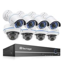Techage 8CH POE 1080P Sicherheit NVR Sets 2MP Audio Sound Kamera System Dome Kugel Indoor Outdoor CCTV Surveillance Kit 2TB HDD