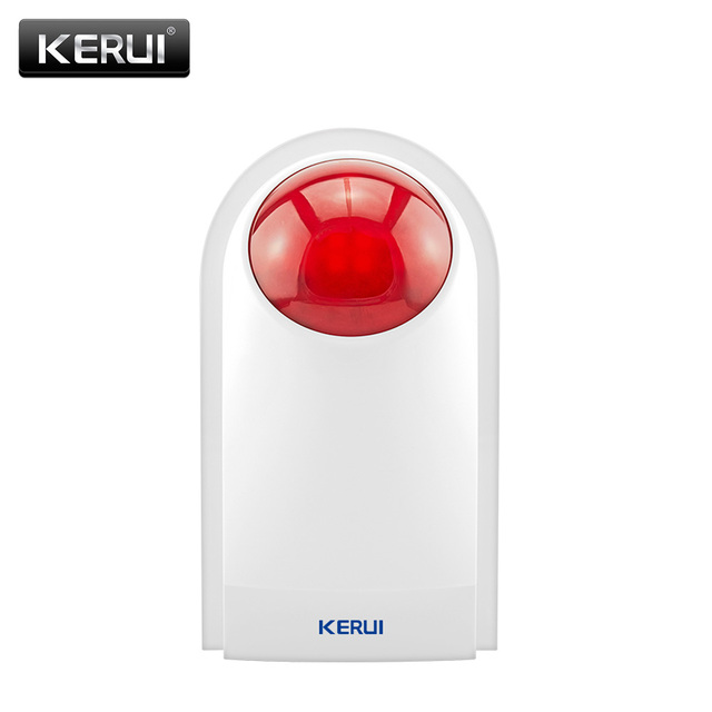 KERUI J008 اللاسلكية فلاش ستروب صفارات الإنذار في الهواء الطلق مقاوم للماء أمن الوطن Bugalr إنذار صفارات الإنذار لنظام إنذار KERUI W18 W20 K52