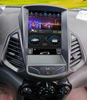 Carbar Tesla Style Vertical Screen Android 9.0 Car DVD GPS Radio Stereo Audio Multimedia Headunit Player For Ford EcoSport 2013+