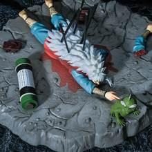 Figura DE ACCIÓN DE Hokage Shippuden para niños, juguete coleccionable de estatua de Pvc de 25cm, modelo de Anime, Ero-sennin Gama Sennin Jiraiya Death