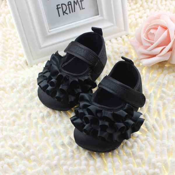 รองเท้าแตะเด็กทารกแรกเกิด Baby Princess First Walkers เด็กวัยหัดเดินผ้าฝ้ายเด็กทารก Mary jane นุ่มรองเท้าเด็กรองเท้า