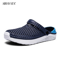 Blue-Unisex Summer Beach Sandals Slipper Flat Anti-Slip