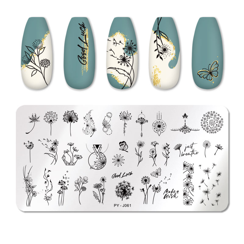 PICT YOU 12*6cm Nail Art Templates Stamping Plate Design Flower Animal Glass Temperature Lace Stamp Templates Plates Image 53