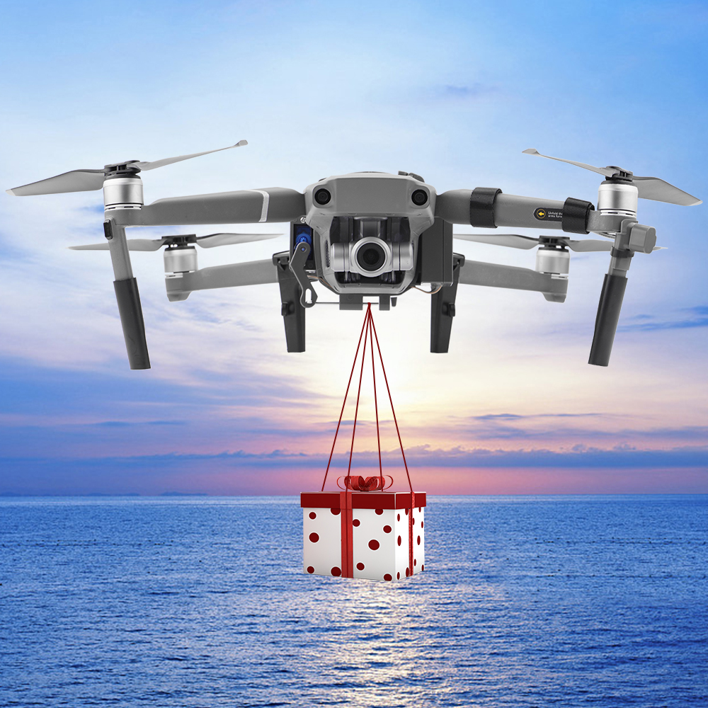 How to buy Chance for  New Drone Camera Accessoriess Air Thrower For DJI Mavic 2 Pro/Zoom Drone Wedding Ring Gift Fishing