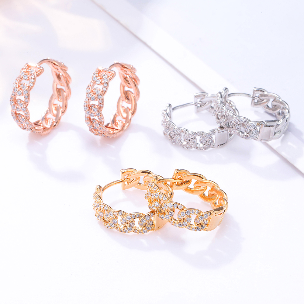 Hollow Cubic Zirconia Small Hoop Earrings For Women Round Circle Gold Earring Party Gift Women's Jewelry Oorbellen Dropship 2020