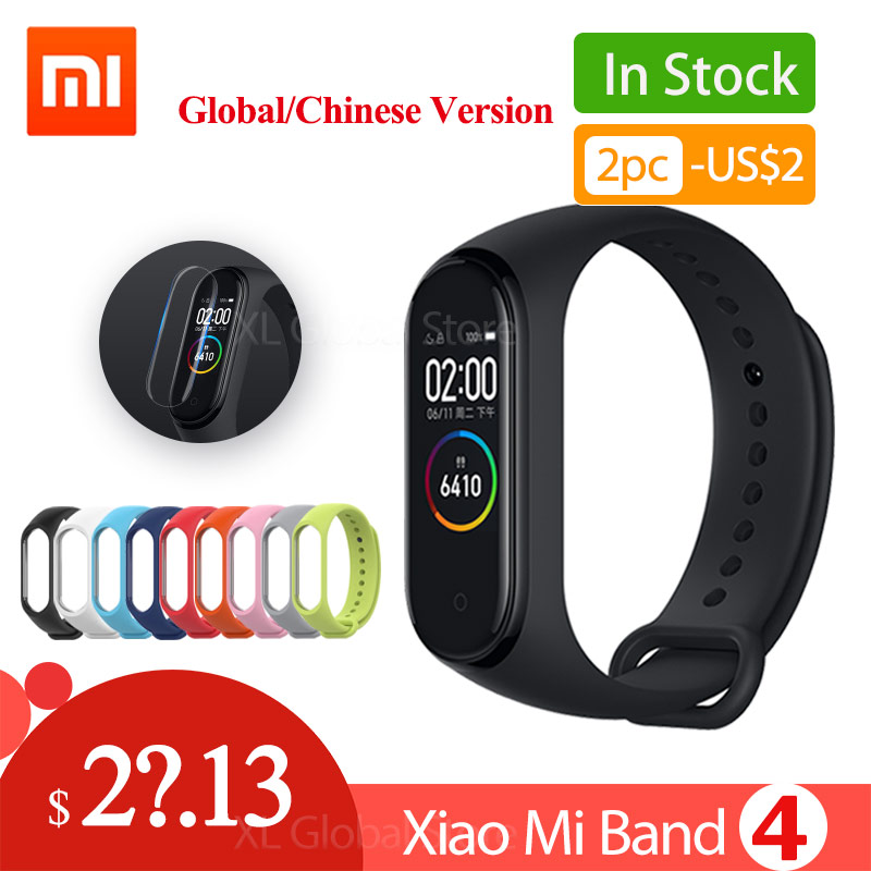 Xiaomi mi Band 4 mi band 4 versión Global 2019 última pulsera Bluetooth 5,0 Fitness pulsera de ritmo cardíaco versión china-in Pulseras inteligentes from Productos electrónicos    1