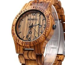 Unisex Natural Maple Wooden Handmade Quartz Watch Men Life Waterproof Movement Auto Date Watch Women Casual Watches reloj hombre