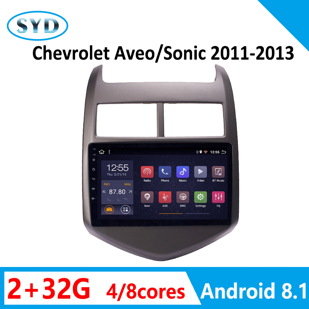 android car radio for Chevrolet <font><b>Aveo</b></font> Sonic multimedia player 2011 2012 <font><b>2013</b></font> 8 core parktronic GPS navigation no 2din autoradio image