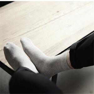 Image 4 - MYORED 10 пар/лот, мужские хлопковые носки, короткие, роскошные брендовые Классические однотонные носки для мужчин, деловое Повседневное платье, носки