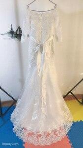 Image 4 - Fansmile Mới Đầm Vestido De Noiva Ren Châu Phi Nàng Tiên Cá Váy Cưới 2020 Tùy Chỉnh Plus Kích Thước Ngọc Trai Cô Dâu Áo Cưới FSM 495M