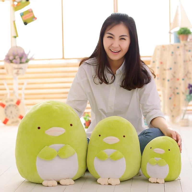 1Pcs 20 30 40cm Corner Creature Cute Cat Dinosaur Bear Penguin Plush Toy Gift Lying Posture Japan Pillow in Stuffed Plush Animals from Toys Hobbies