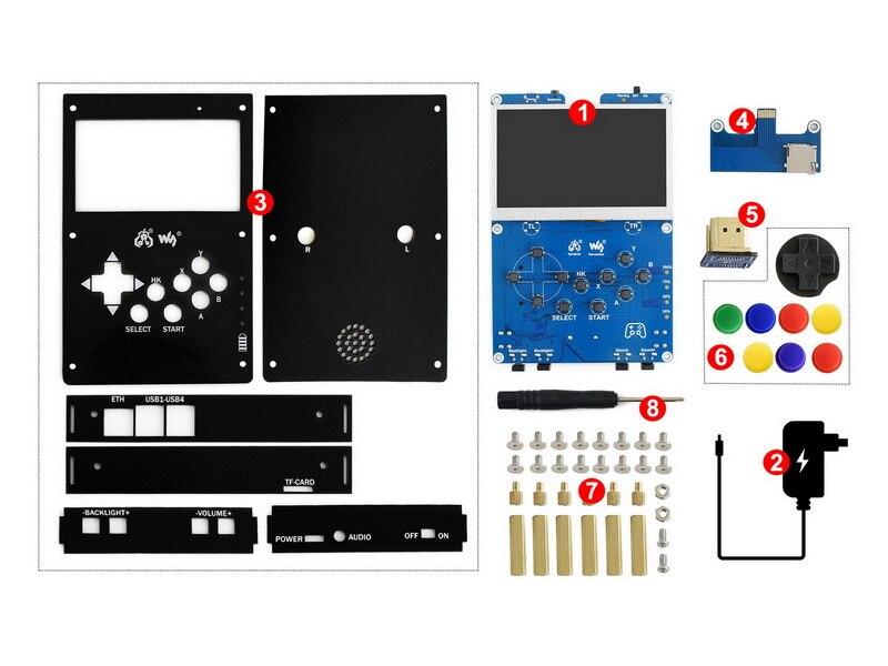 GamePi43-Acce-UK version UK GamePi43 accessoire basé sur Raspberry Pi 4.3 pouces IPS afficher une console de jeu vidéo rétro portable