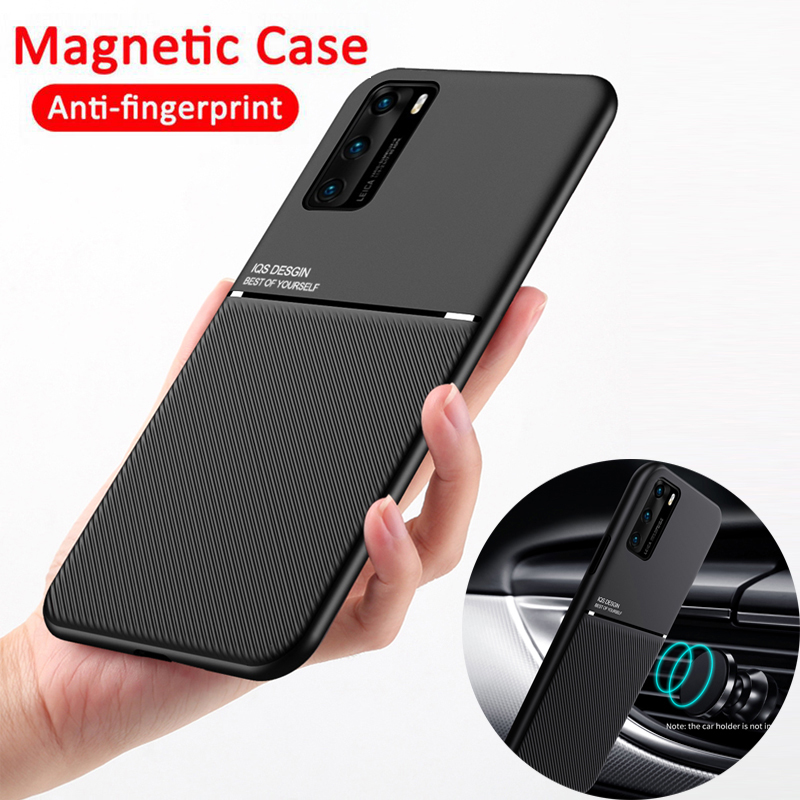 Slim Leather Texture Car Holder Case For Samsung Galaxy S20 Plus Ultra S10 S9 S8 Note 10 9 8 A70 A71 A50 A20 A10 A51 A21 A01 M30