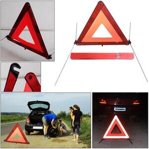 Image 5 - Araba acil üçgen reflektör yansıtıcı ceket arıza uyarısı güvenlik otomatik katlanmış dur işareti yol reflektör araba aksesuarları