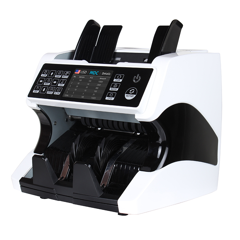 Touch Screen Cash Register Intelligent CIS Money Detector Mix Value Bill Counter Money Counting Machine
