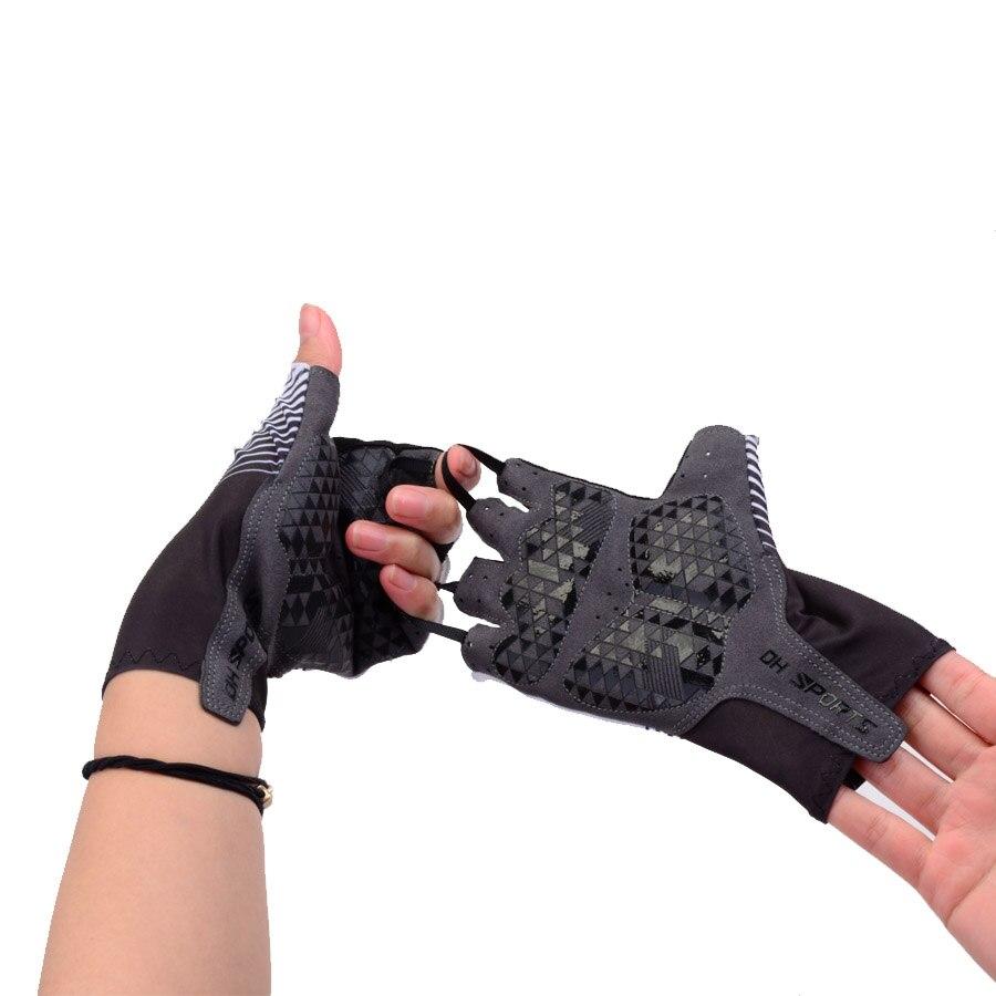 Купить с кэшбэком 2019 New Cycling Gloves Half Finger Gel Sports Racing Bicycle Mittens Women Men Summer Road Bike Anti-slip Outdoor Gloves