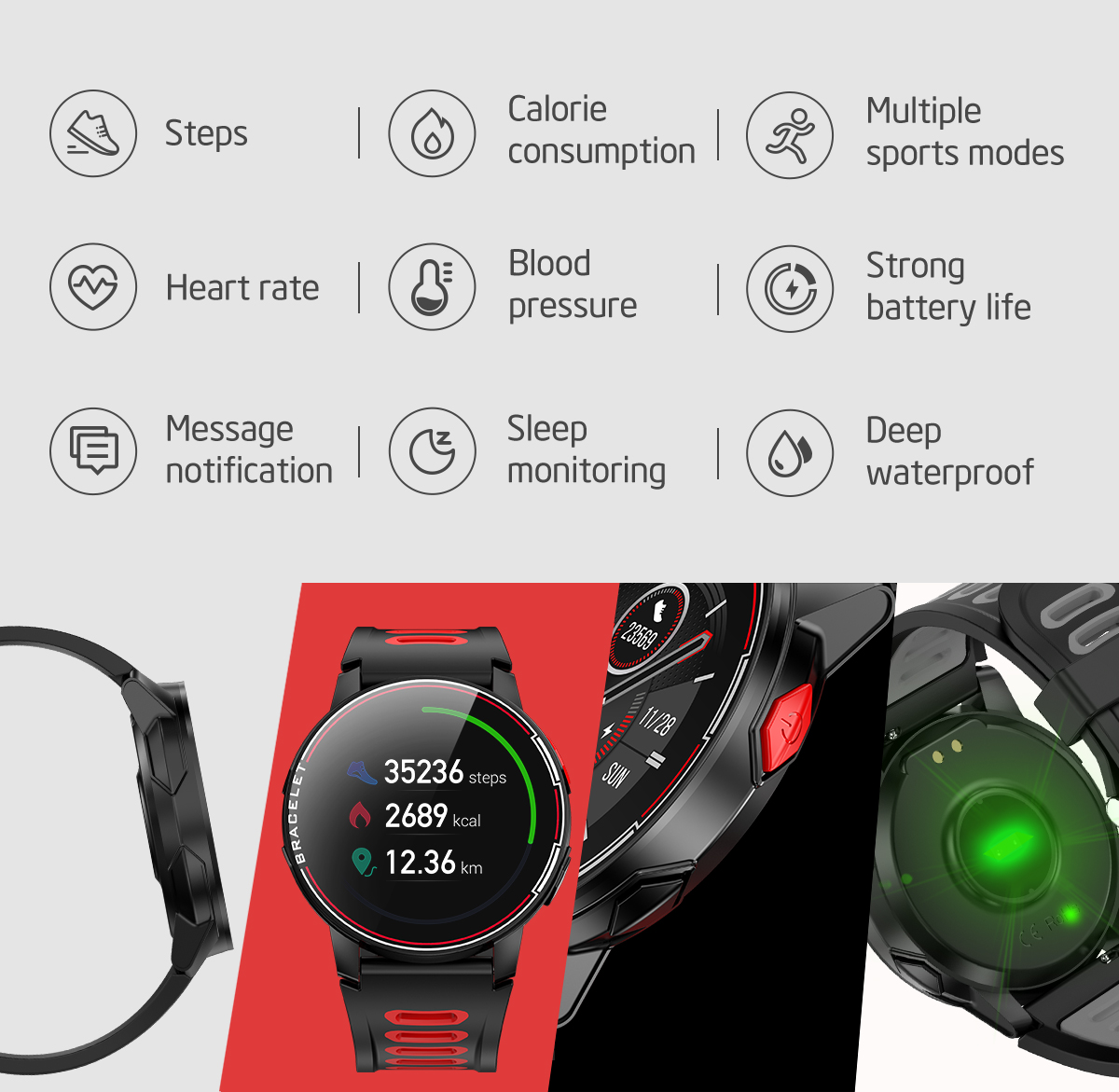 H9b06c29d0c6c4df08081dd42d3a6736ff 2020 New L6 Smart Watch IP68 Waterproof Sport Men Women Bluetooth Smartwatch Fitness Tracker Heart Rate Monitor For Android IOS