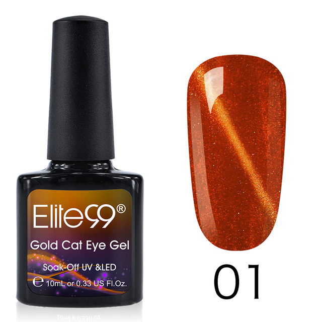 Elite99 10ml Gold Cat Eye Gel Polnisch Tränken Weg Von Wein Rot Farbe Nagel Gel Lack 3D Magnetische Nagel Kunst maniküre UV Gel Nagellack