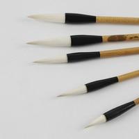 5pcs Chinese Calligraphy Painting Brush Set Beginner Large Regular Script & Official Script Handwriting Practice Craft Supply