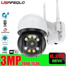 3MP Dual luce PTZ Macchina Fotografica di Wifi Umani Auto Tracking ONVIF CCTV di Sicurezza Della Macchina Fotografica Audio AI Umani Detection Outdoor Macchina Fotografica Senza Fili