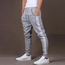 Для мужчин спортивные штаны джоггеры тренажерный зал Фитнес Для мужчин зимние пикантные длинные штаны брюки для бега Спортивная одежда летние брюки для бега