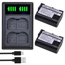 Аккумуляторная батарея 2000 мА · ч en el15 el15a + двойное зарядное