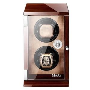 """Image 1 - 2019 חדש יוקרה אוטומטי שעונים תצוגת תיבת שעון אוסף אחסון מקרה שעון ארגונית קופסות מחזיק שעון אלונקות Plug ארה""""ב"""