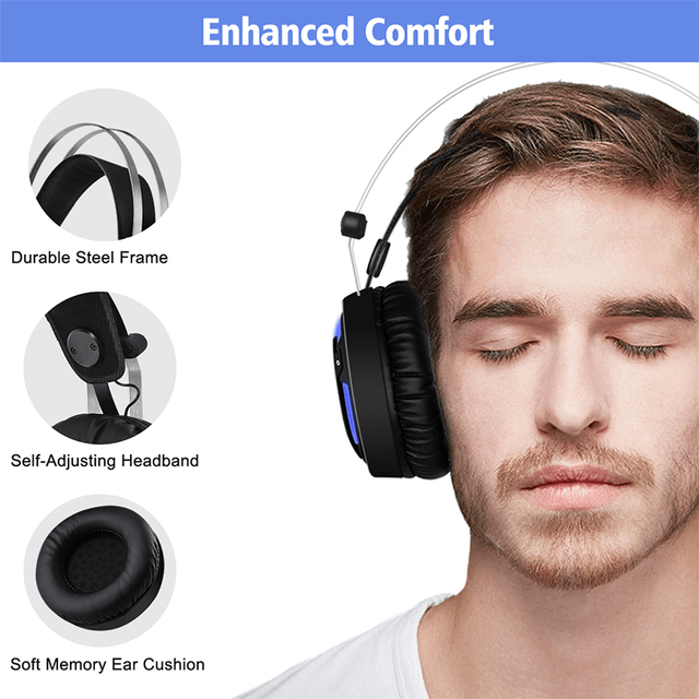 ALWUP A6 Gaming Headphones for Computer PC Games 4