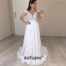 Шифоновое свадебное платье цвета слоновой кости белое кружевное