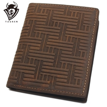 Crazy Horse Leather Ultimate Slim Mini Wallet Front Pocket Wallet Bifold Genuine Leather Coin Purse
