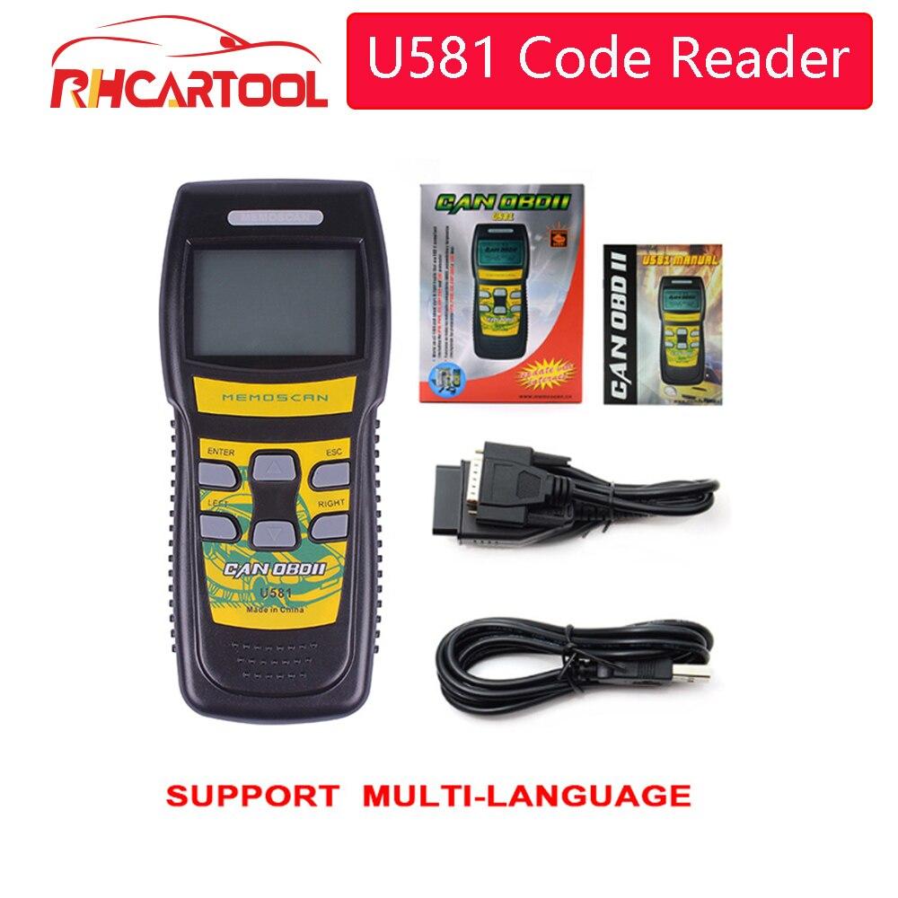 Car accessories Original Memoscan U581 Scanner Live Data U581 Code Reader OBD2 OBD II Diagnostic Scan Tool Free Update Online