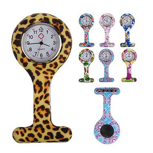 Silicone Fashion Silicone Nurses Watch Brooch Tunic Fob Pocket Stainless Dial Watches FS99