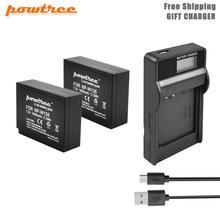 цена на Powtree 7.2V 1600mAh NP-W126 Camera Battery+Battery LED Charger For Fujifilm FinePix S30EXR HS33EXR X-Pro1 X-E1 X-E2 X-M1 L50