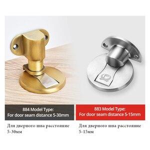 Image 5 - KAK Adjustable Door Holder Stainless Steel Magnetic Door Stopper Non punch Sticker Water proof Door Stop Furniture Door Hardware