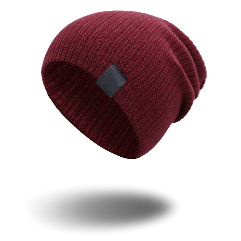 Baggy Beanie Hat For Men Winter Hats Women Outdoor Ski Toboggan Bonnet Knitted Autumn Warm Solid Colour Sport Cap Skull Unisex