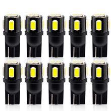 Safego 10 шт w5w 501 светодиодный светильник t10 194 168 6smd