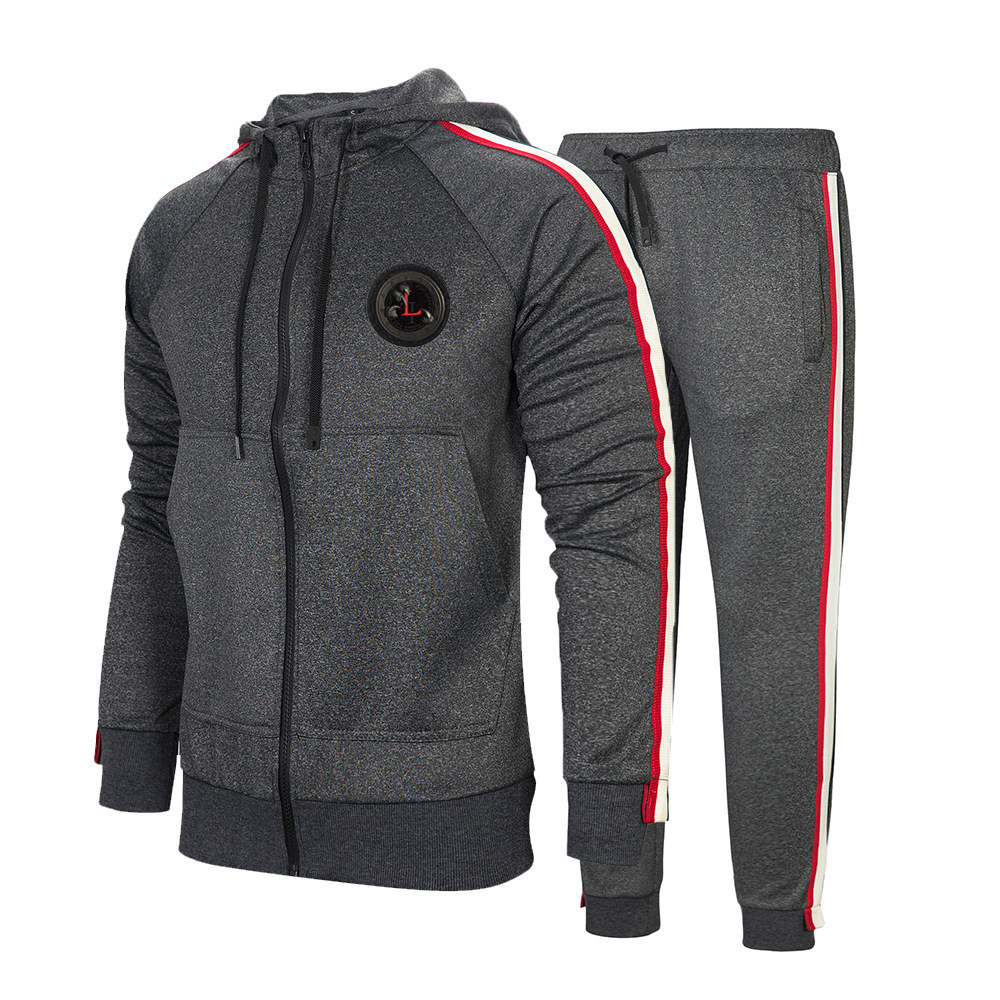 Amazon Wish Spring And Summer Large Size MEN'S Casual Suit New Style Trend Hoodie Set Outdoor Sports