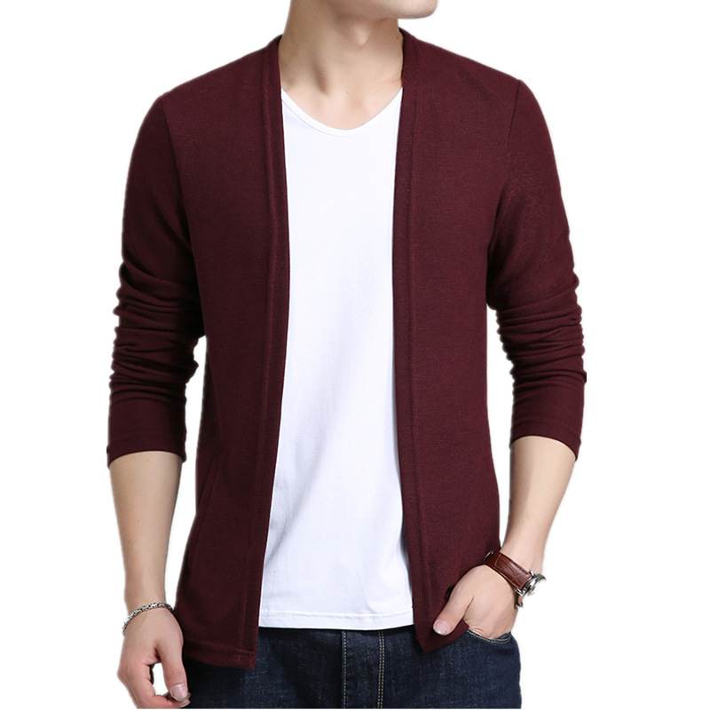Men Cardigan Fashion Slim Fit Sweater Men Autumn Winter Solid knitted Cardigan Man Causal Sweater coat Streetwear Brand Clothing