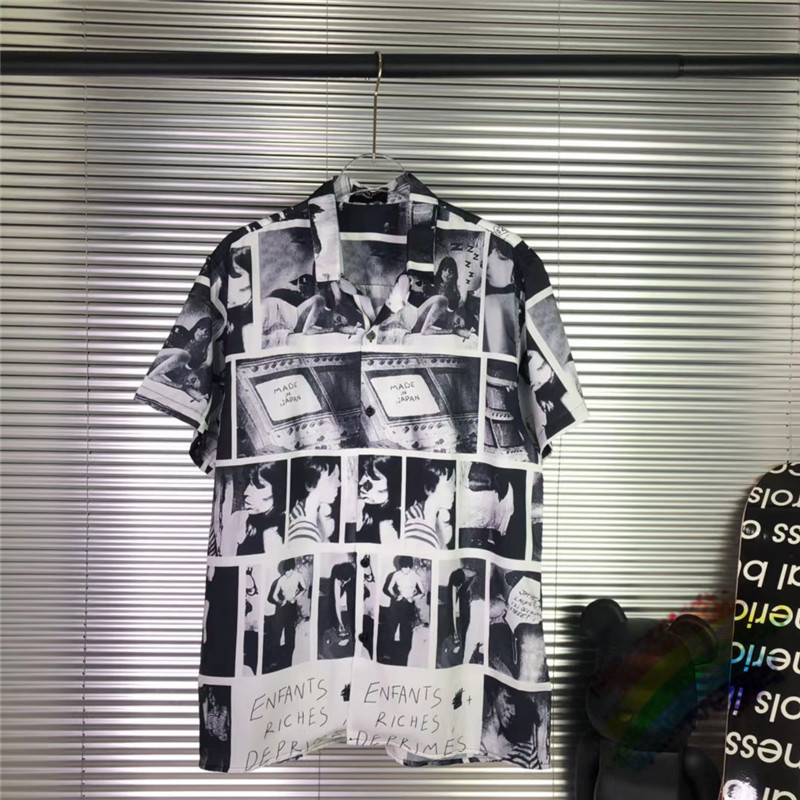 Summer Style ERD Shirt Men Women 1:1 High-Quality Streetwear Cartoon print Top Tees E.R.D Shirts