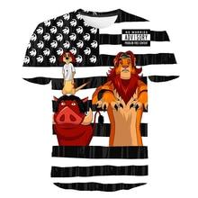 2019 3D T-shirt Boys Girls Poker King Lions Lamb wild boar Print Short Sleeves Tees Shirts Summer Tops Streetwear Harajuku